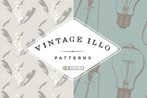 (Seamless) Vintage Illo Patterns