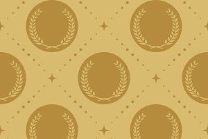 Laurel wreath seamless pattern
