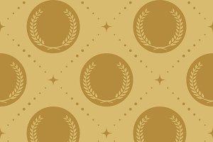 Laurel wreath seamless pattern