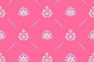 Pattern victorian style pink color