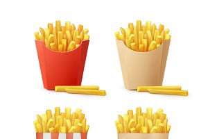 Set of Potatoes French Fries