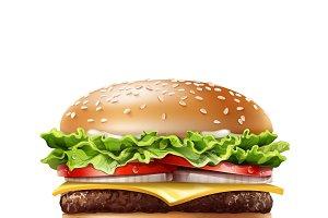 Realistic Hamburger
