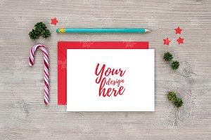 Christmas card mockup #0692