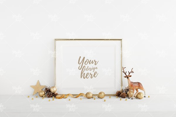 Christmas frame mockup #4268