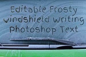 Frosty Windshield Finger Writing