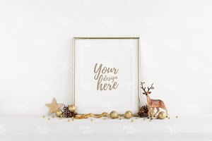 Christmas frame mockup #4269