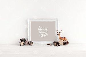 Christmas frame mockup #7533