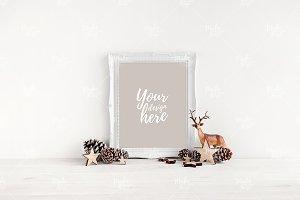 Christmas frame mockup #7532