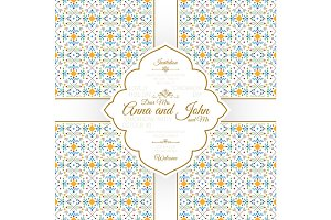 Invitation card with geometric pattern