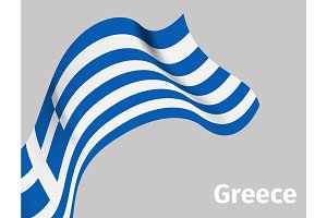 Background with Greece wavy flag