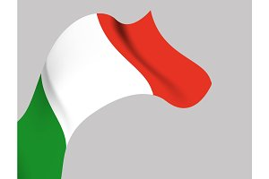 Background with Italy wavy flag