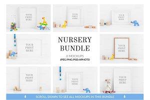Bundle Nursery print mockups vol.1
