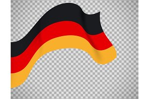 Germany flag on transparent background