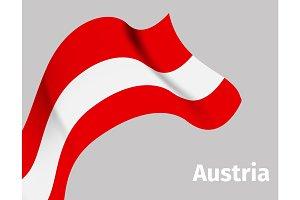 Background with Austria wavy flag