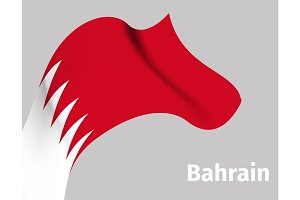 Background with Bahrain wavy flag
