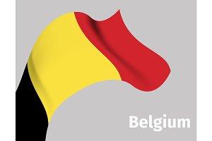 Background with Belgium wavy flag