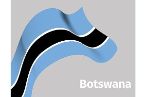 Background with Botswana wavy flag