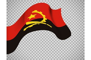 Angola flag on transparent background