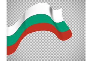 Bulgaria flag on transparent background