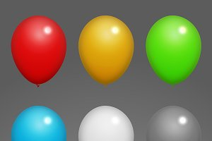 Colorful Balloons Vectors