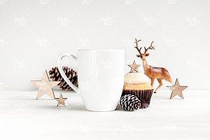 Bistro Christmas mug stock #0786
