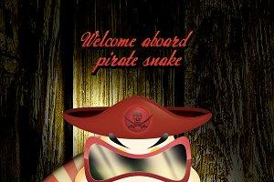 Comedian Pirate Theme Snake & Panda