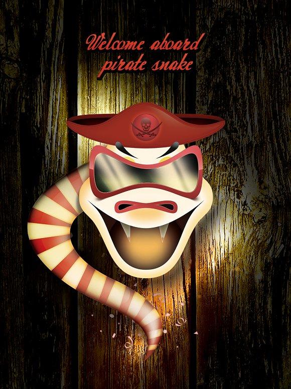 Comedian Pirate Theme Snake Panda