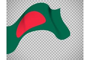 Bangladesh flag on transparent background