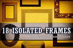 18 WHITE ISOLATED FRAMES PACK