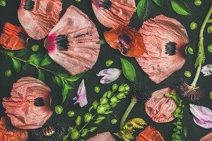Floral pattern of flower petals