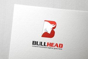 Bull Head Letter B Logo
