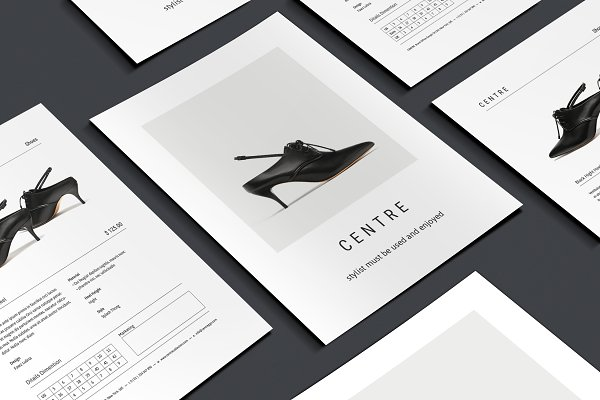 Flyer Templates: BOXKAYU - C E N T R E — Fashion Flyer