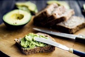 natural organic dish of avocado