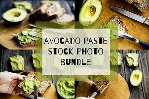 Avocado paste stock photo bundle
