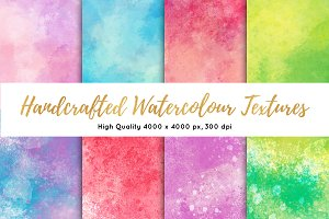 Handcrafted Watercolor Textures