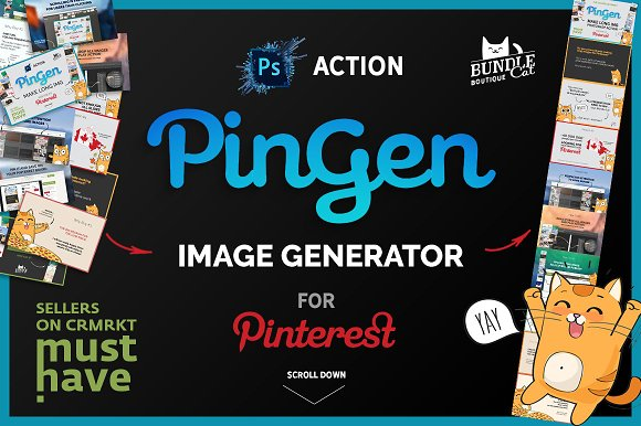 Pinterest Image Generator u-Graphicriver中文最全的素材分享平台