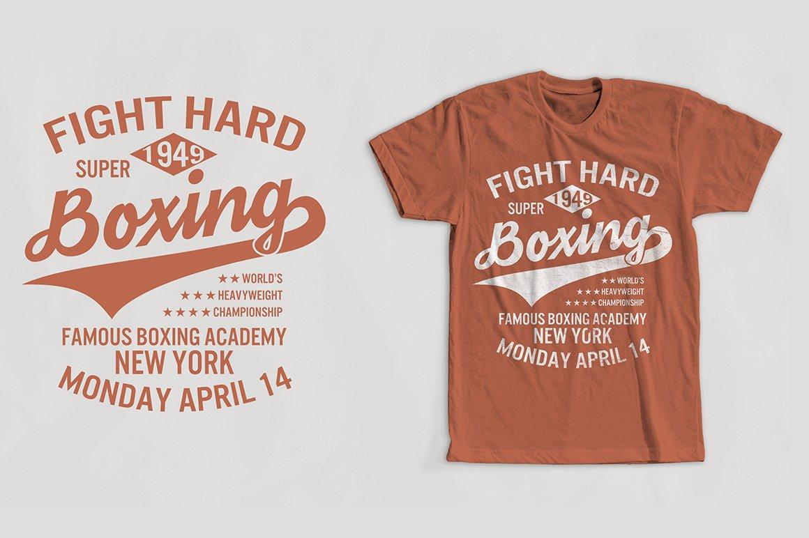 Boxing Vintage T Shirt Design Illustrations Creative