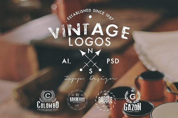 Vintage Logos & Badges Set 4