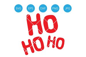 Ho Ho Ho SVG Christmas Santa Saying
