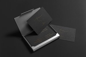 ms.Silence. Business Card Template