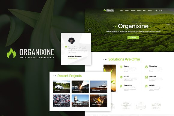 Biofuel Company WordPress Theme