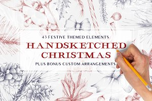 Handmade Christmas Design Elements