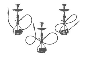 Hookah minimalistic vector illustration