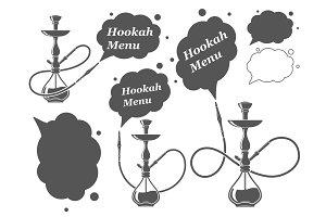 Hookah minimalistic vector illustration