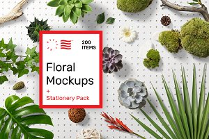 Floral Mockups + Stationery Pack