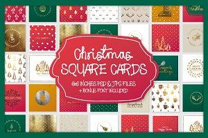 Christmas Square Cards + Bonus