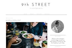 Blogger Template - 9th Street