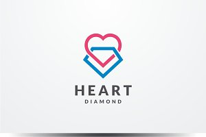 Heart Diamond Logo