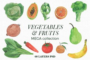 Vegetables & Fruits Mega Collection