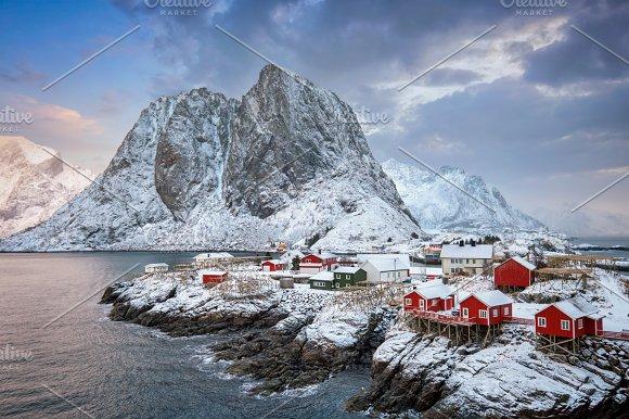 Hamnoy Fishing Village On Lofoten Islands Norway